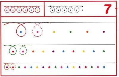 Fichas Grafomotricidad trabajamos la grafia de los números (61)