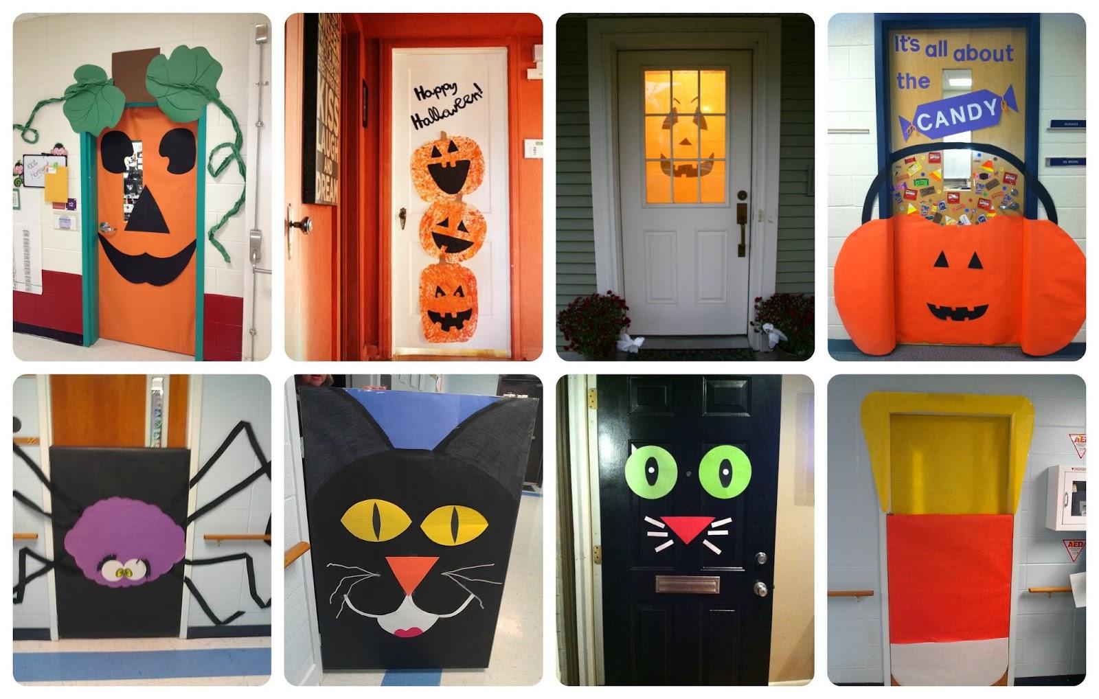 Halloween puertas 19 imagenes educativas for Ideas para decorar marcos de puertas