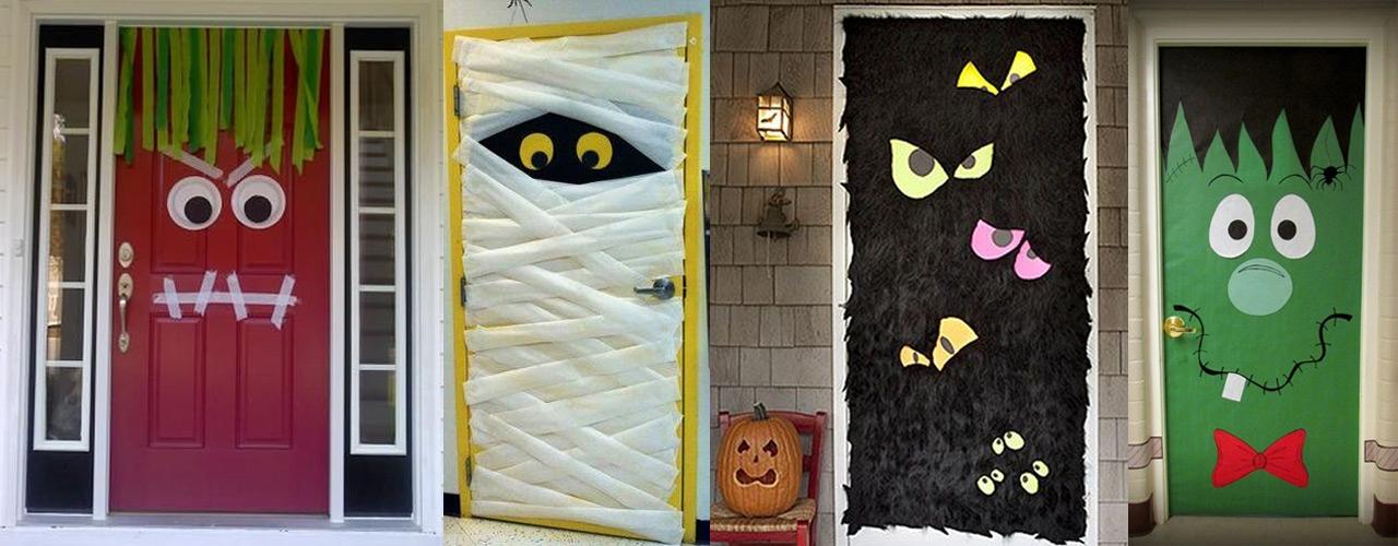 Halloween puertas 23 imagenes educativas for Puertas decoradas halloween calabaza