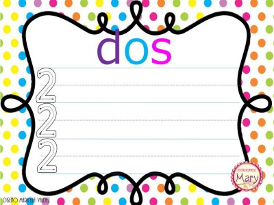 Librito para practicar los números del 1 al 9 (9)