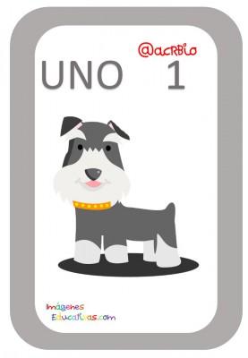 Tarjetas Números Perritos Imagenes Educativas (1)