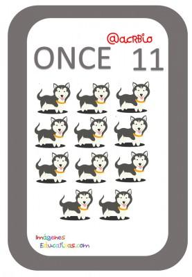 Tarjetas Números Perritos Imagenes Educativas (11)