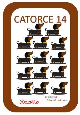 Tarjetas Números Perritos Imagenes Educativas (14)