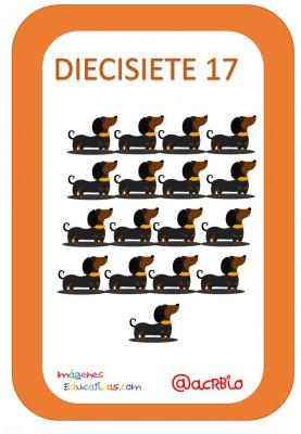 Tarjetas Números Perritos Imagenes Educativas (17)