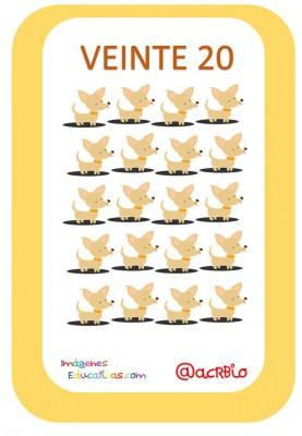 Tarjetas Números Perritos Imagenes Educativas (20)