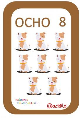 Tarjetas Números Perritos Imagenes Educativas (8)