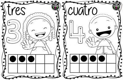 Tarjetas números para colorear (3)
