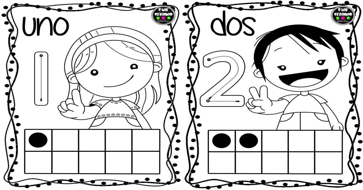 Tarjetas para colorear y repasar los números del 1 al 10 ...