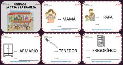 Vocabulario Temático centro de interés casa y familia Portada