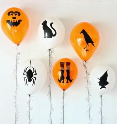 "ideas para decorar con globos para niños ""Halloween"" (2)"