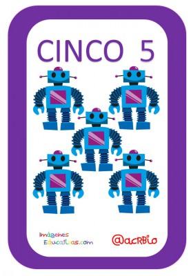 Cartas juguetes números (5)