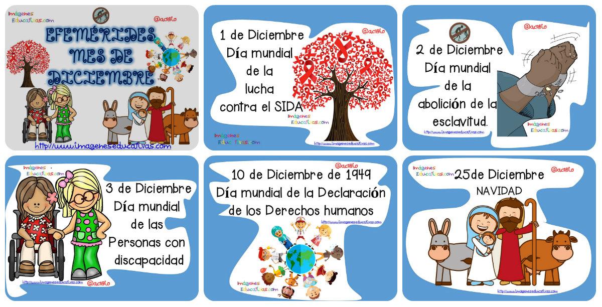 Efemérides mes de diciembre - Imagenes Educativas