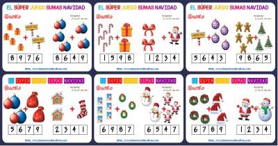 Sumas iconos navidad Portada