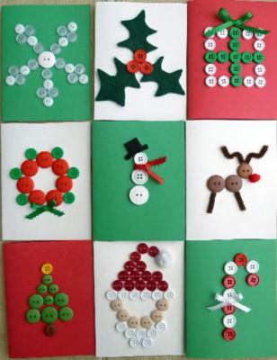 Tarjetas de Navidad Con Botones (20)
