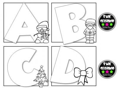 Abecedario para colorear motivos navideños (1)
