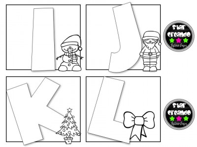 Abecedario para colorear motivos navideños (3)