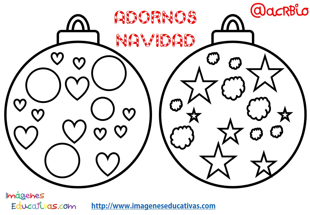 Bolas de navidad colorear 11 imagenes educativas - Bolas de navidad para ninos ...