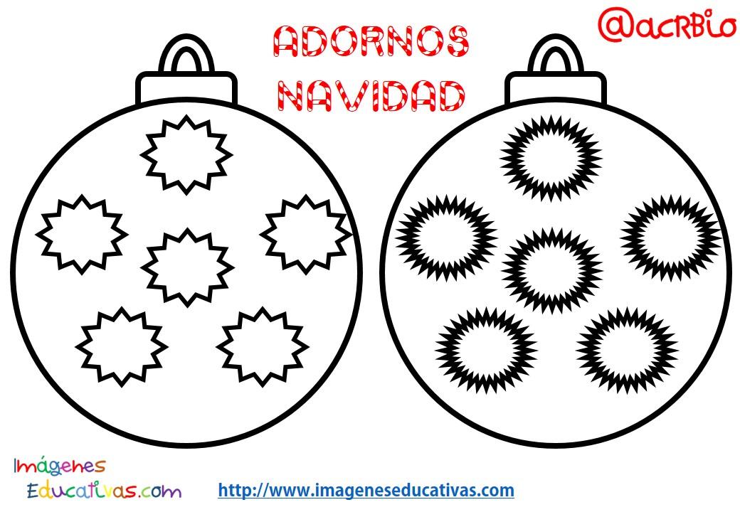 Bolas de navidad colorear 3 imagenes educativas - Bolas de navidad para ninos ...