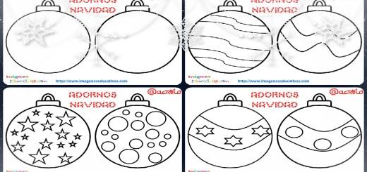 Abecedario para colorear con motivos navideños - Imagenes Educativas