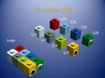 Fracciones con piezas de Lego (7)