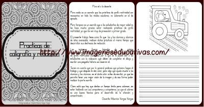 Librito para practicas Caligrafía y Redacción Portada