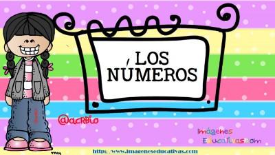 Los números tarjetas para repasar (1)