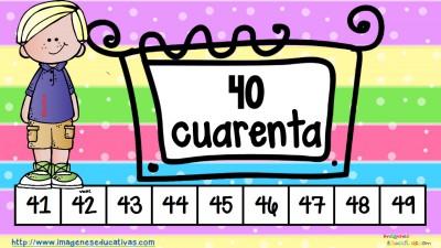 Los números tarjetas para repasar (5)