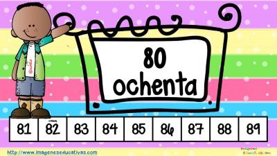 Los números tarjetas para repasar (9)