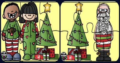 Puzzles Navidad Color Portada