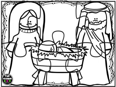 Puzzles navidad para colorear (1)