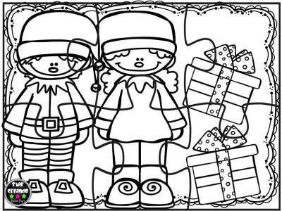 Puzzles navidad para colorear (4)