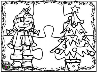 Puzzles navidad para colorear (5)