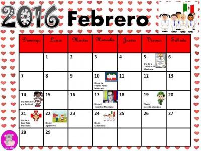 Calendario 2016 con efemérides incluidas. Listo para descargar e imprimir (2)