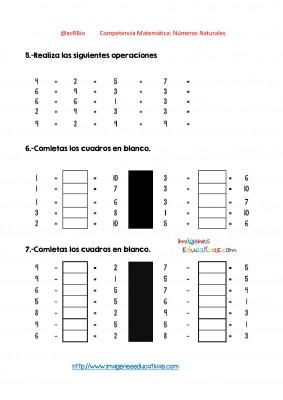 Ejercicios múltiples con números enteros (8)