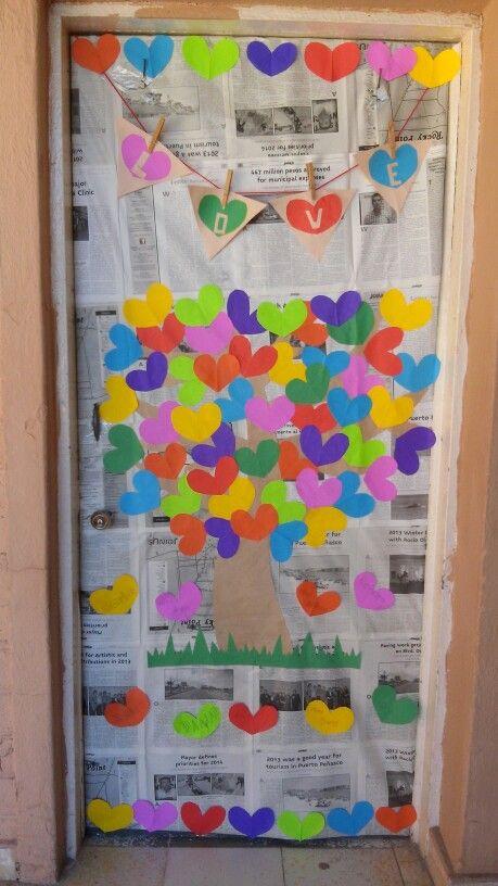Puertas san valent n 6 imagenes educativas for Decoracion de puertas de san valentin