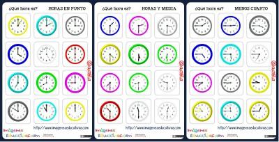 fichas de relojes analógicos Portada