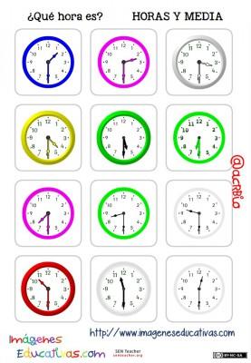 fichas de relojes analógicos. (5)