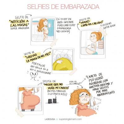 selfies embarazadas
