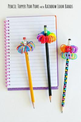 Adornos para lápices manualidades  Diy  (13)