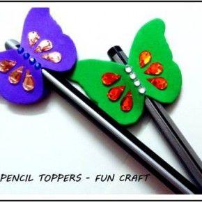 Adornos para lápices manualidades  Diy  (21)