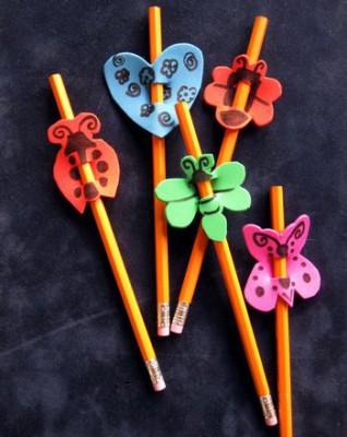 Adornos para lápices manualidades  Diy  (4)