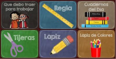 Carteles Materiales para traer a clase Portada