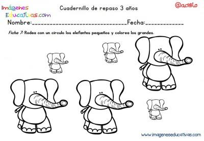 Cuadernillo complementario para 3 años, Educación Preescolar  (7)