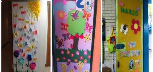 Decoracion puertas clase primavera portada2