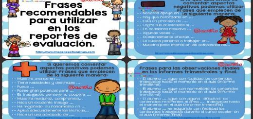 Frases recomendables para utilizar en los reportes de evaluación Portada2