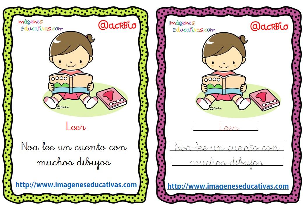 Lectoescritura verbos de acción (12) - Imagenes Educativas