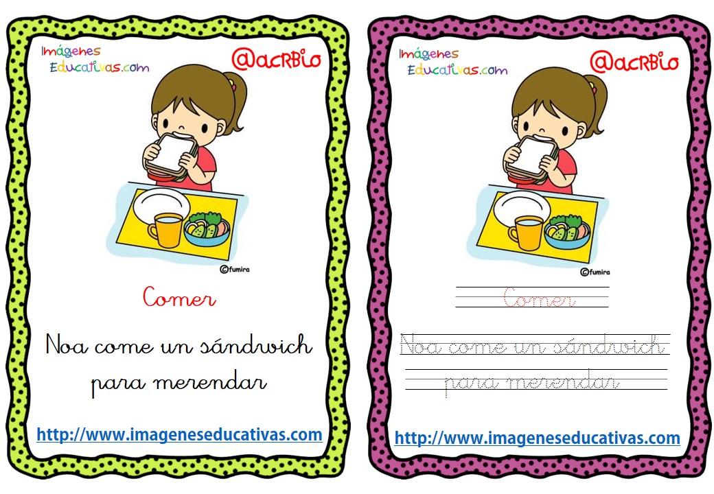Lectoescritura verbos de acción (20) - Imagenes Educativas