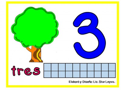 Aprendemos los números modelando plastilina (3)