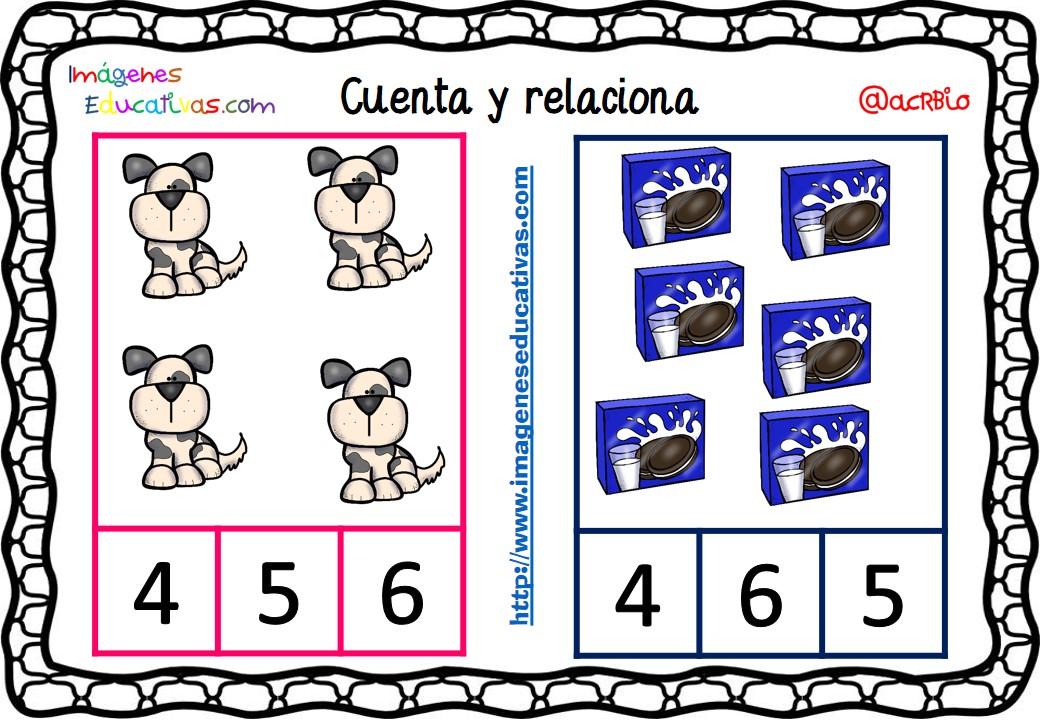 Dibujos Para Aprender A Colorear: Fichas Para Aprender A Contar (4)