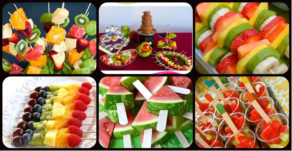 Ideas para preparar fuentes y brochetas de frutas para los m s peques de la casa imagenes - Cuchillos para decorar fruta ...